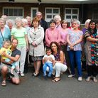Karen Buck MP joins residents at Dibdin House to protest at the loss of Dibdin Hall - which has been