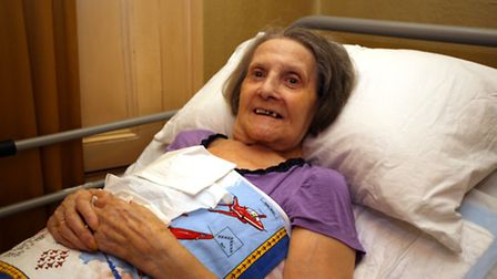 Former music hall performer Pauline Cox, now 88 and bed bound, who has been trying to get the counci