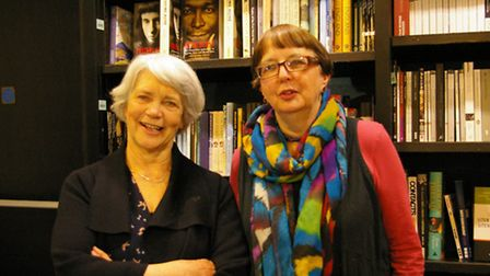 Martha Kapos, left, and Ruth Valentine following their readings