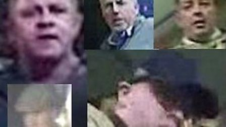 Police have released images of men they would like to speak to in relation to the disturbance at the