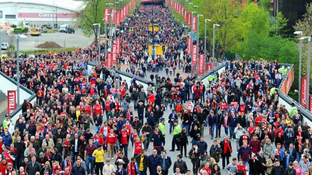 Arsenal fans are heading to Wembley on Saturday. (Photo by Mike Hewitt/Getty Images)