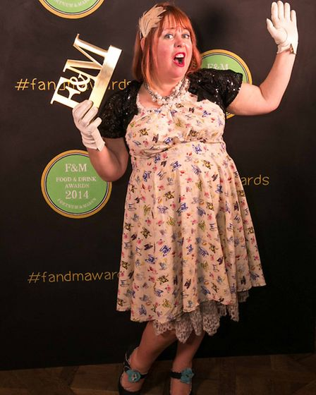 Kerstin Rodgers won the best online food writer catergory (pic credit: Fortnum & Mason)