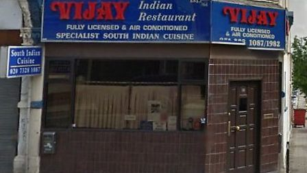 Kerstin Rodgers recommends Vijay Indian Restaurant in Willesden Lane (pic credit: Google streetview)