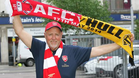 Matthew Reed, Arsenal merch trader who is not being allowed to sell scarves, flags or hats during th