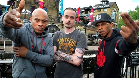 Paul Rafis, met with Oynx members Sticky Fingaz and Fredro Starr at Camden Lock before the gig (pic