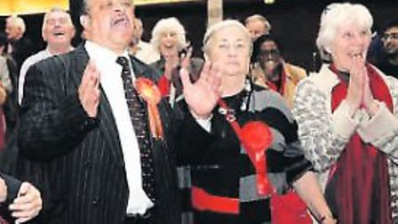 Joyous Labour councillors at the last election in 2010