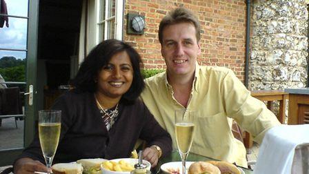 Heino Vockrodt with his wife Lanka