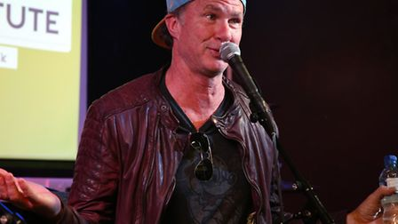 Red Hot Chili Peppers drummer, Chad Smith, treated pupils at the Institute of Contemporary Music Per