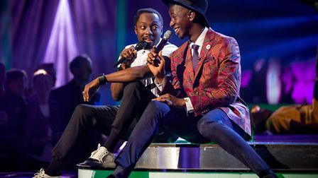 Jermain Jackman with The Voice mentor Will.i.am : photo by Guy Levy