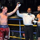 Alan Higgins (left) defeated Jason Ball at York Hall in his last outing in February. Pic: Philip Sha
