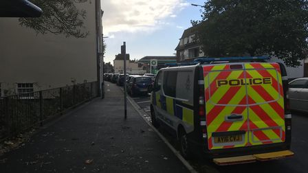 Emergency services on the High Street in Lowestoft. Photo: Staff