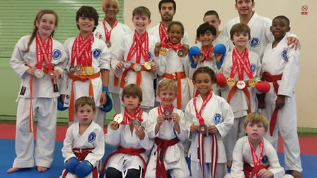 The Veras Academy squad at the Leicester Wadokai Open Championships
