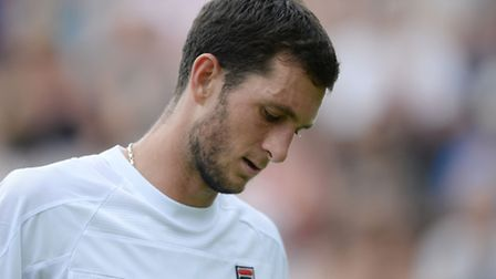 James Ward lost to Mikhail Youzhny in straight sets in the first round at Wimbledon today