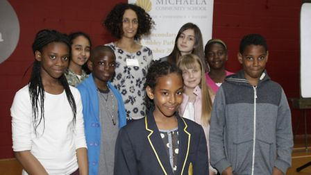 Scores of pupils met with Katherine Birbalsingh, headteacher at the school, at the special welcome e