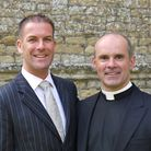 Father Andrew Cain, right, with husband Stephen Foreshew