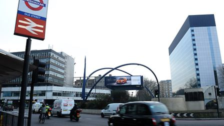 The Old Street area, dubbed 'Silicon Roundabout' because of the high number of web businesses locate