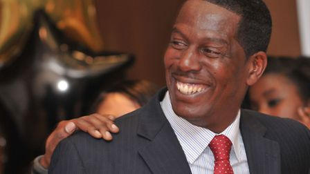 The late Trevor Hutton, co-founder of AFC Wembley