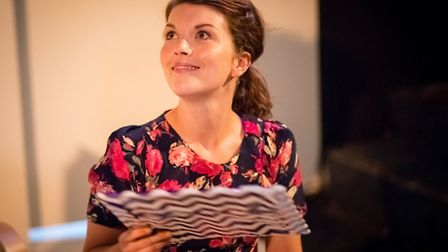Lt-Rt: Alexander Neal (Sam) and Emily Plumtree (Anita), My Girl 2 by Barrie Keeffe, Directed by Paul