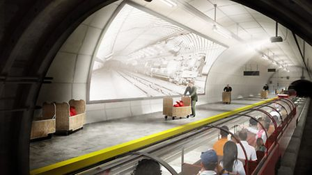 Artists impression of Mail Rail - British Postal Museum and Archive
