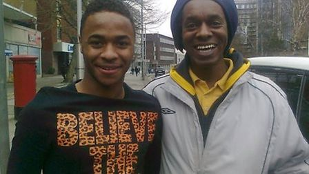 Paul Lawrence with Raheem Sterling last year