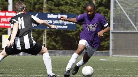 Raheem Sterling in action for Brent at the 2009 London Youth Games (pic: London Youth Games)