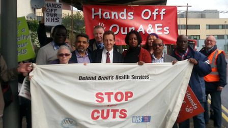 Dawn Butler joined Labour councillors and residents in protesting against the planned closures