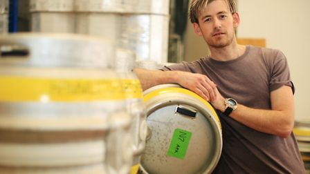 Brewer Director Lee Hammerton at his brewery in Islington.