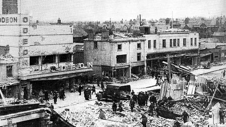 A Second World War onslaught known as Waller's Raid destroyed several Lowestoft buildings and severe