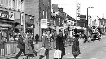 London Road North in Lowestoft, with the Odeon cinema in the background. Picture: Courtesy of Ken Ja