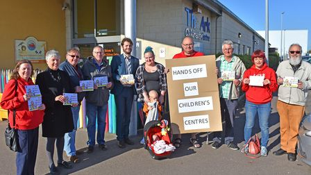 Campaigners gathered at The Ark in Lowestoft to protest against the potential closure of children's