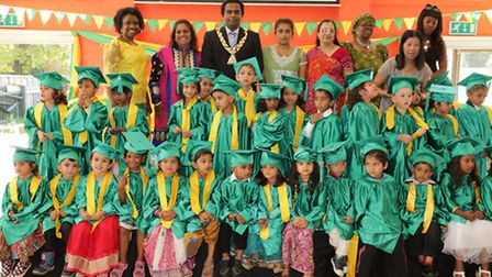 All 33 youngsters have graduated from the Wembley Central Nursery School