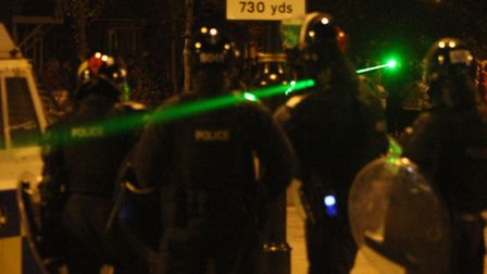 Man arrested on suspicion of shining a laser pen in to an aircraft (Pic credit: PA)