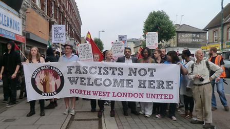 The community united against the protest by SAE (Pic credit: North West London United)