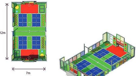 Outlines of the planned transformation of the games area in Salusbury Primary School