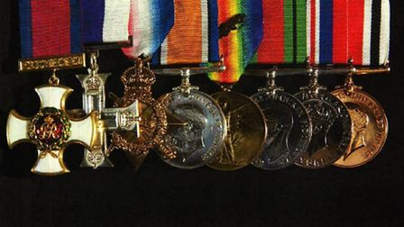 Some of the stolen medals