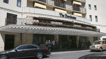 The Dorchester hotel in London, after robbers wielding sledgehammers allegedly staged a smash-and-gr