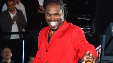 Audley Harrison arriving at Celebrity Big Brother house (PA/ Ian West)