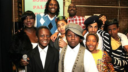 Audley Harrison during a visit at Copland Community School in Wembley (Photo by Jonathan Goldberg)