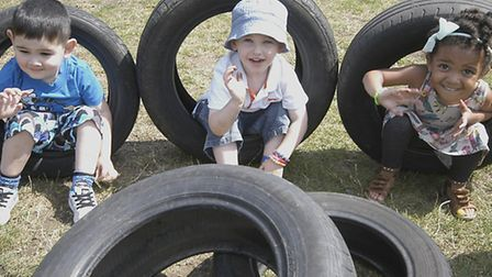 Children enjoying Play Day 2014