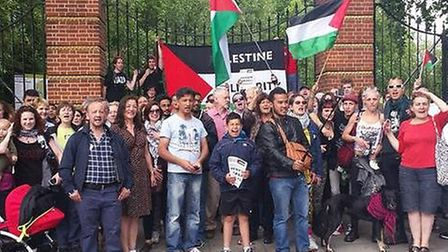 Gaza rally at Finsbury Park on Saturday