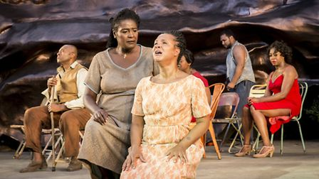 Sharon D. Clarke as Mariah and Golda Rosheuvel as Serena. Photo Johan Persson