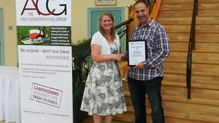 Jon Ashby with Alison Statham from ACG