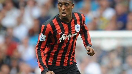 QPR's Leroy Fer in action on his debut against Tottenham