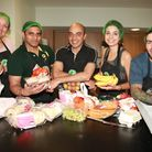 Michelin-star chef Alfred Prasad cooks with volunteers at FoodCycle