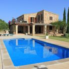 The villa and pool.