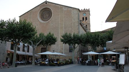 The chapel overlooking the square in Pollensa Old Town.