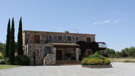 The villa from the front entrance. It was build on a 30 acre former vinyard.