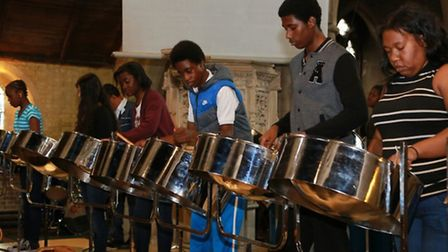 Members of the St Michaels and All Angels Steel Band performed the very best of classical music at t