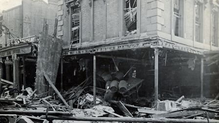 Damage to the Eaglet pub, in Seven Sisters Road Pic: Islington Local History Centre