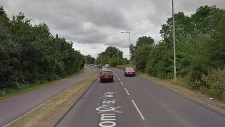 Tom Crisp Way in Lowestoft, where a 15-year-old boy was assaulted. Picture: Google